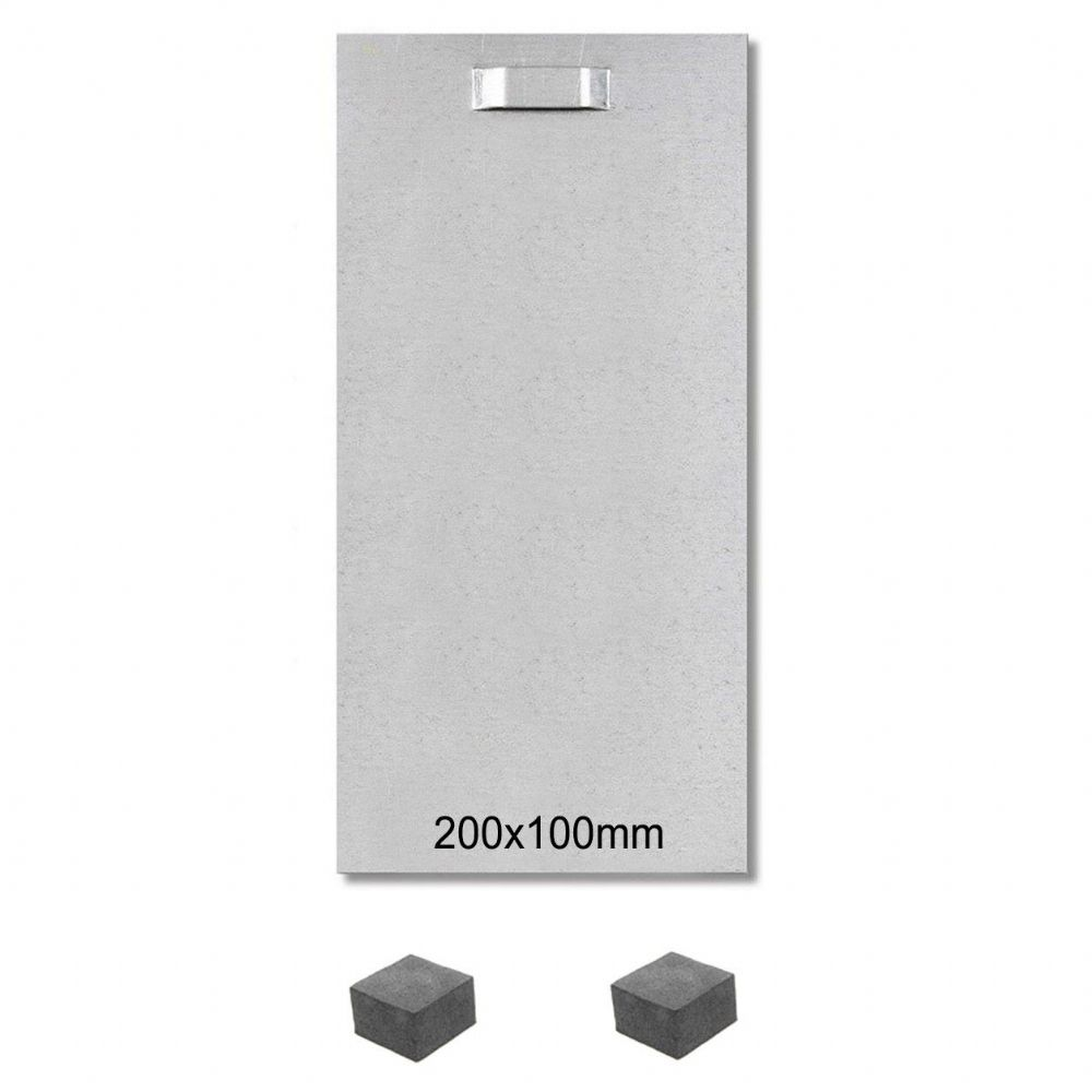Self Adhesive Steel Hanging Plates for Graphic Panels 200x100mm with Spacer Pads